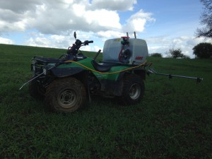 ATV with Logic 120 L Spray Tank